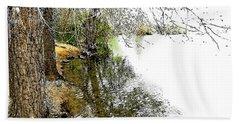 Reflective Trees Bath Towel