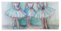 Hand Towel featuring the painting Rehearsal by Elizabeth Robinette Tyndall