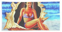 Bath Towel featuring the painting Relax by Ragunath Venkatraman