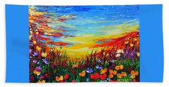 Bath Towel featuring the painting Relax by Teresa Wegrzyn