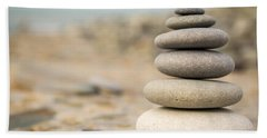 Relaxation Stones Hand Towel by John Williams