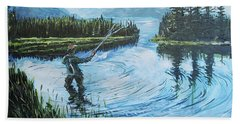 Relaxing @ Fly Fishing Hand Towel