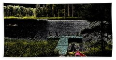 Hand Towel featuring the photograph Relaxing By Moonlight by David Patterson