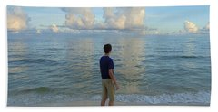 Relaxing By The Ocean Hand Towel