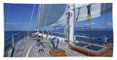 Relaxing On Deck Hand Towel