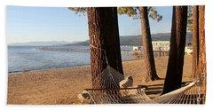 Relaxing On Lake Tahoe Bath Towel