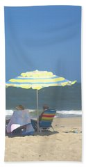 Relaxing On The Chesapeake Bay Va Beach Bath Towel by Suzanne Powers