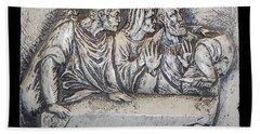 Relief On Plaster Bath Towel by Suhas Tavkar