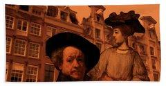 Rembrandt Study In Orange Bath Towel