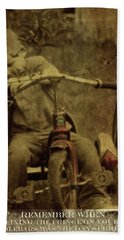 Bath Towel featuring the photograph Remember When Trike Tassels 2 by Lesa Fine