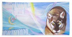 Bath Towel featuring the painting Remembering Childhood Dreams by Phyllis Kaltenbach