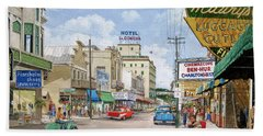Bath Towel featuring the painting Remembering Duval St. by Bob George