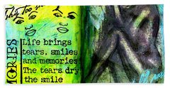 Remembering My Son -  Art Journal Entry Bath Towel