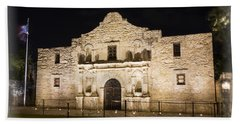 Remembering The Alamo Bath Towel by Stephen Stookey