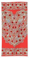 Renaissance Style Heart Bath Towel