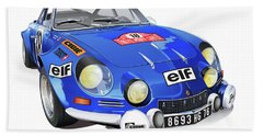 Renault Alpine A110 Bath Towel by Alain Jamar