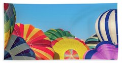 Bath Towel featuring the photograph Reno Balloon Races by Bill Gallagher