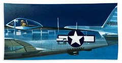 Republic P-47n Thunderbolt Hand Towel by Wilf Hardy
