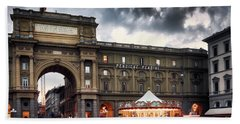 Republic Square In The City Of Florence Hand Towel