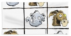 Republicans Win Tic Tac Toe Hand Towel
