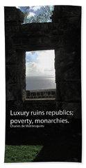Republics And Monarchies Bath Towel by Ian  MacDonald