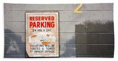 Reserved Parking Bath Towel