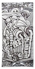 Hand Towel featuring the drawing Rest In Peace Eternally - Marie Kalfala - Sierra Leone by Mudiama Kammoh