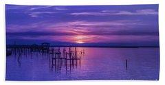 Rest Well World Purple Sunset Bath Towel