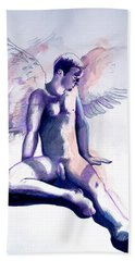 Resting Angel Bath Towel