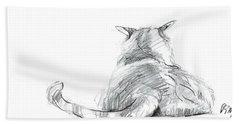 Resting Cat Hand Towel