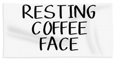 Resting Coffee Face-art By Linda Woods Bath Towel