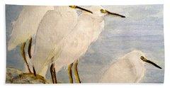Resting Egrets Bath Towel by Carol Grimes