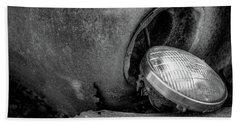 Resting Headlight Of Rusty Car Hand Towel