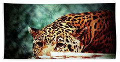Resting Jaguar Bath Towel