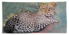 Resting Leopard Bath Towel