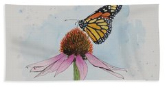 Resting Monarch Hand Towel