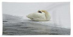 Resting Swan-signed-#1314 Bath Towel