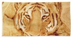 Resting Tiger Bath Towel