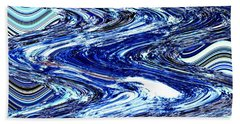 Restless Waves Hand Towel by Kellice Swaggerty