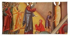 Hand Towel featuring the painting Resurrection Of Lazarus by Munir Alawi