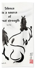 Retired With Lao Tzu Quote IIi Bath Towel by Bill Searle
