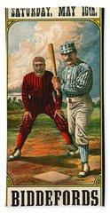 Retro Baseball Game Ad 1885 B Hand Towel