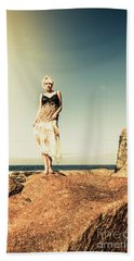 Retro Beach Fashions Hand Towel