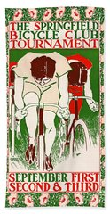 Bath Towel featuring the photograph Retro Bicycle Poster 1895 by Padre Art