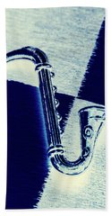 Retro Blues Hand Towel