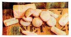 Retro Butter Shortbread Wall Artwork Bath Towel