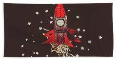 Retro Cosmic Adventure Hand Towel