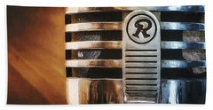 Retro Microphone Bath Towel