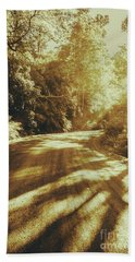 Retro Rainforest Road Bath Towel