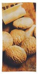 Retro Shortbread Biscuits In Old Kitchen Bath Towel